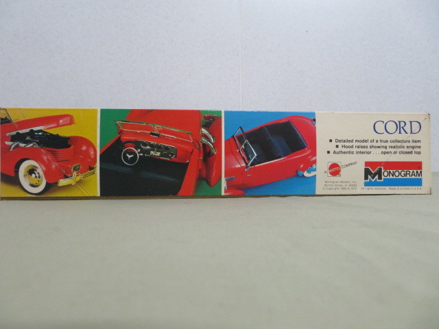 F05 【未組立・保管品】モノグラム 1/24 クラシック コード MONOGRAM 1/24 The Classic CORD_画像2