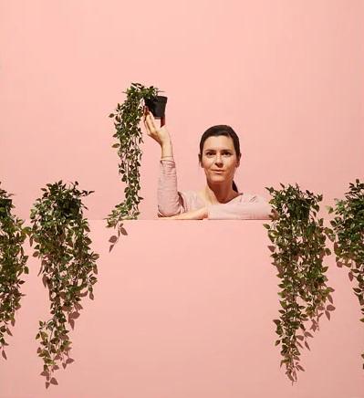 ☆ IKEA イケア ☆ FEJKA フェイカ 人工観葉植物, 室内/屋外用, つり下げ型 植物、造花 <植木鉢の直径9cm 植物の高さ70cm> 送料510円~2h_画像2