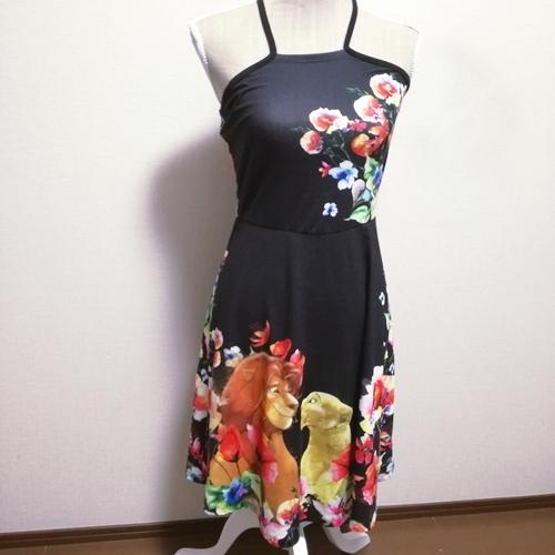 新品 海外限定 ワンピース ドレス ライオンキング シンバ&ナラ アメリカサイズS