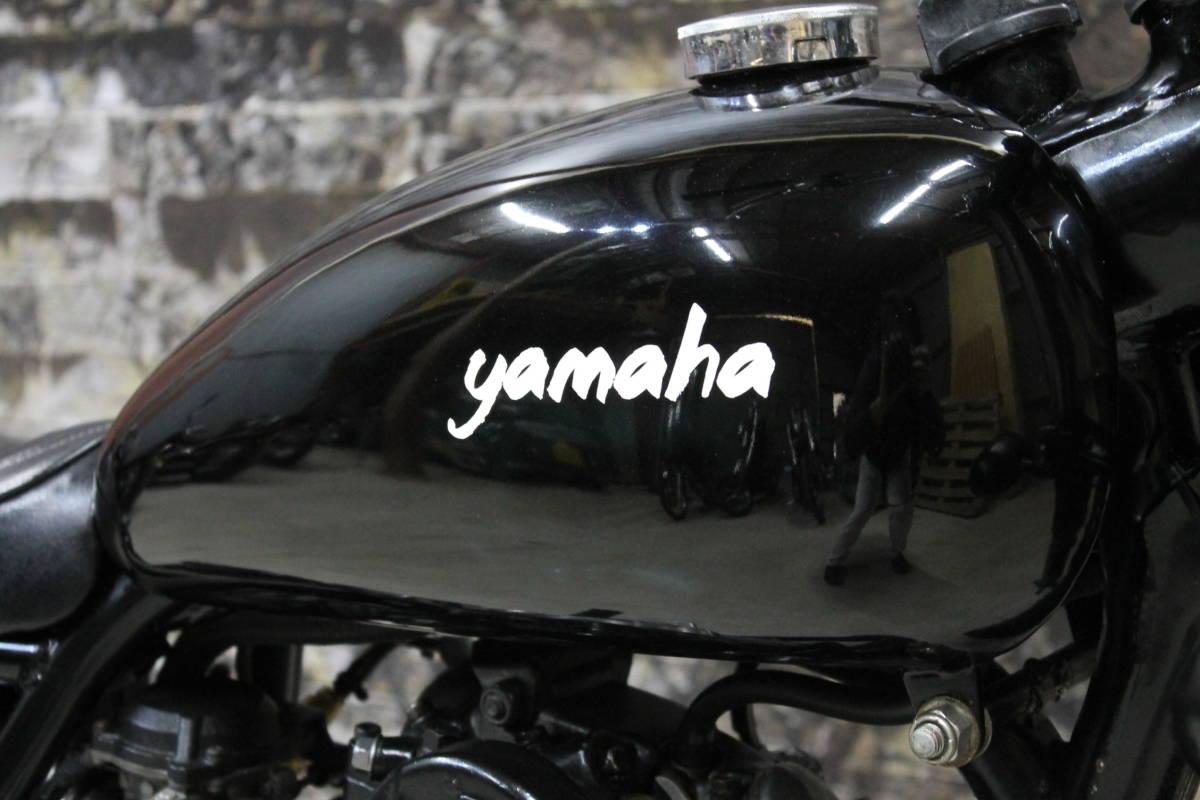 コンプリート SR400 ボバー 極太タイヤ ファイヤーストーン フレーム加工 1JR カスタム多数 キック一発 ヤマハ 検: ZXCV19023_画像7