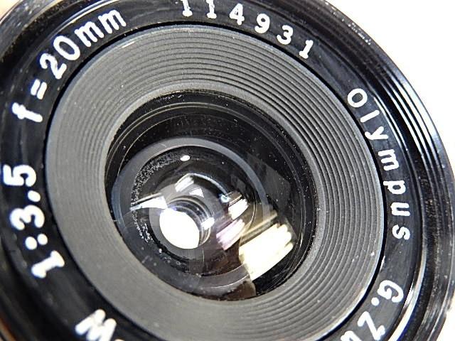 ★綺麗 オリンパス ペンF・FT用 20mm 1:3.5 広角レンズ  点検清掃・作動確認済 _画像3