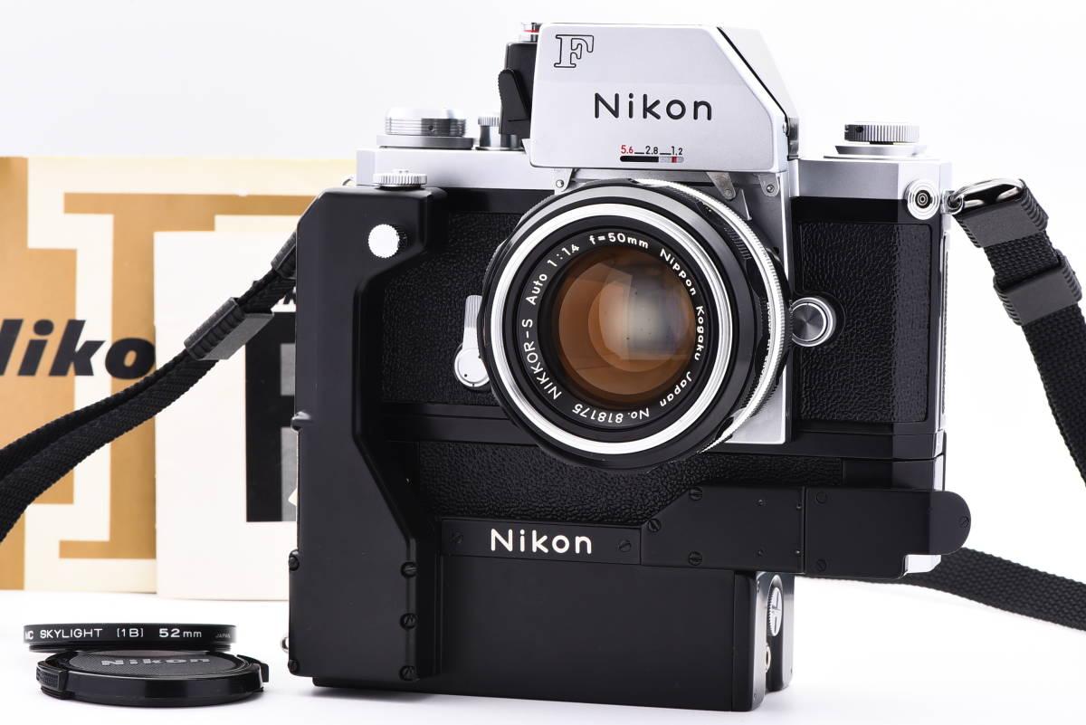 ◆美品 Nikon ニコン F フォトミック FTN シルバー 50mm f/1.4 レンズ F-36 モータードライブ セット #64A