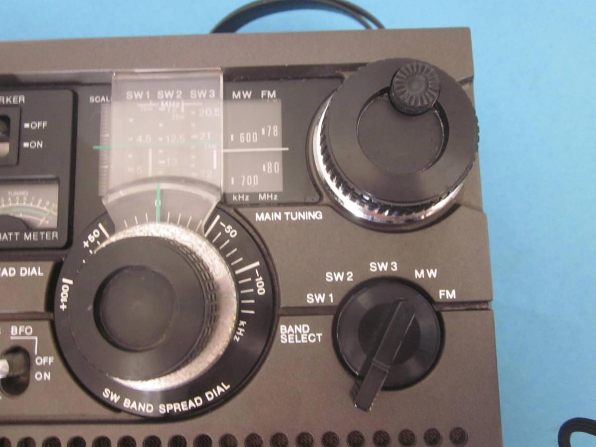 SONY ソニー FM/AMラジオ ICF-5900 スカイセンサー 純正ACアダプター付★FM/AM受信OK、ジャンク_画像2
