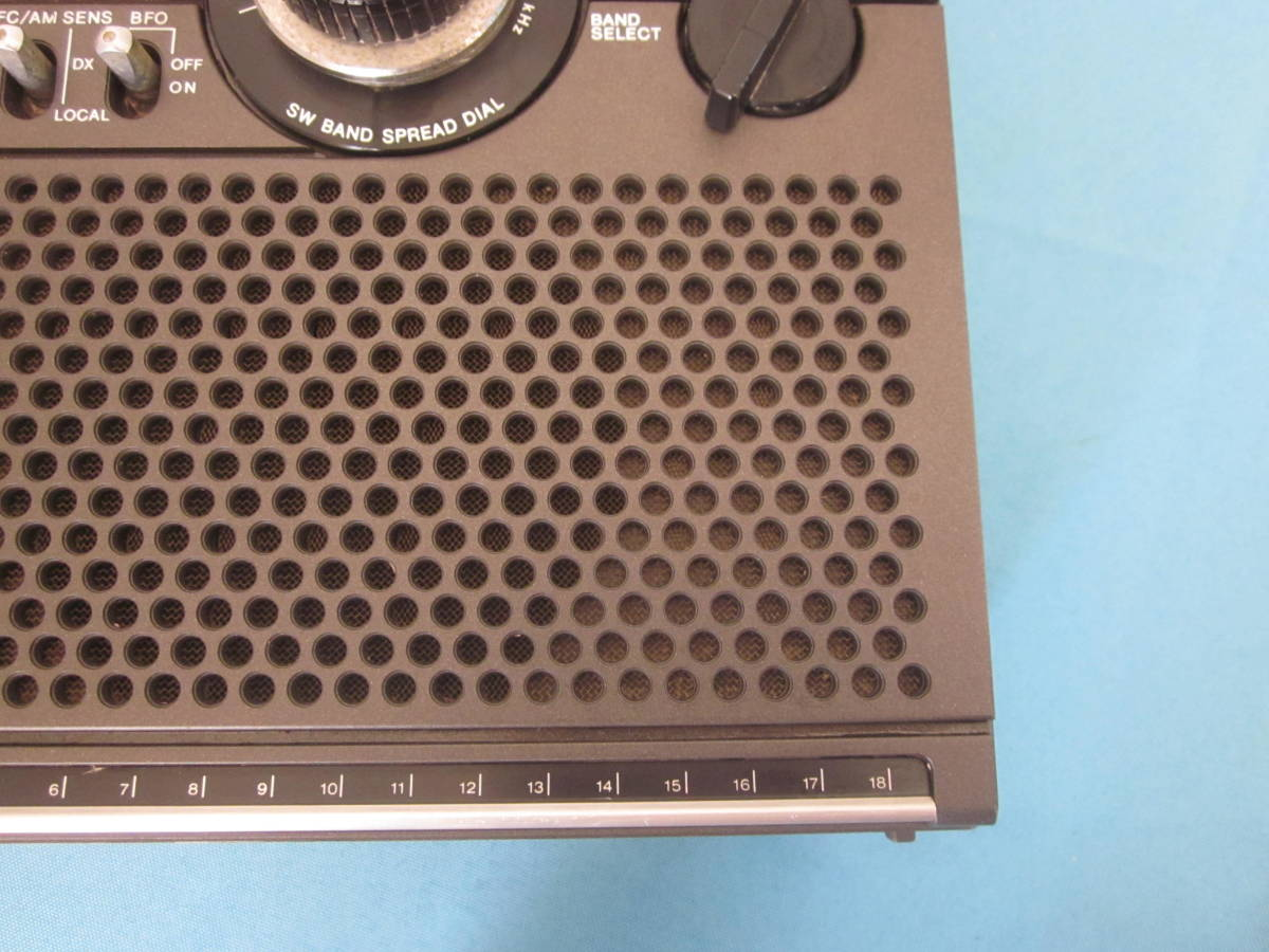 SONY ソニー FM/AMラジオ ICF-5900 スカイセンサー 純正ACアダプター付★FM/AM受信OK、ジャンク_画像4