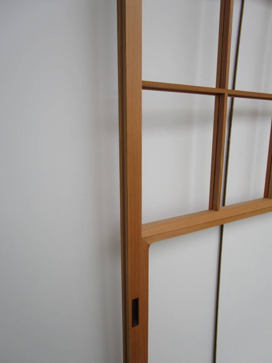 s9166雪見障子■秋田杉のいいお品です♪建具入替におススメ 約、1m80.5cm×89.5cm 厚3.2㎝_画像2