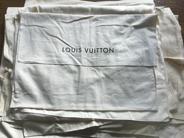 1円~ ルイヴィトン 保存袋セット 12枚 LOUIS VUITTON 大型バッグ用 特大 4 箱 保存箱 空箱 ボックス_画像2