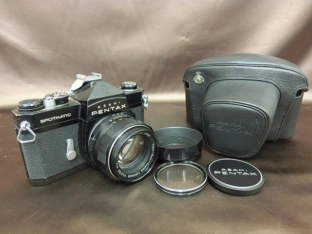 ①PENTAX SPOTMATIC SP ペンタックス カメラ Super-Takumar 1:1.4 / 50 Asahi レンズ