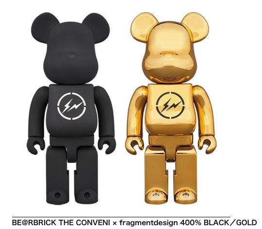 BLACK+GOLDセット BE@RBRICK THE CONVENI fragment design 400% ベアブリック フラグメント コンビニ 藤原ヒロシ メディコムトイ_画像2