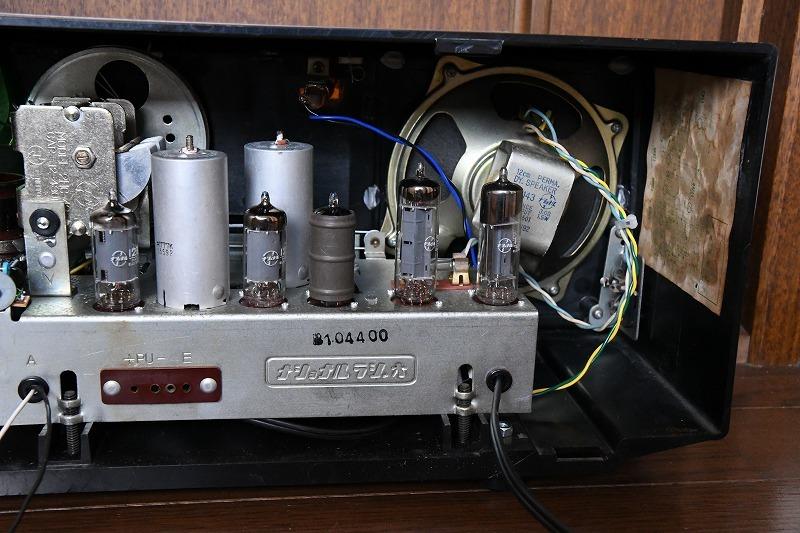 ナショナル トランスレス方式真空管ラジオ AM390 LED同調指示器つけました_画像7