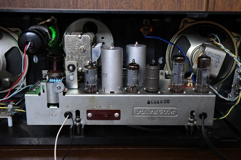 ナショナル トランスレス方式真空管ラジオ AM390 LED同調指示器つけました_画像8