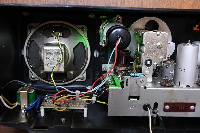 ナショナル トランスレス方式真空管ラジオ AM390 LED同調指示器つけました_画像9