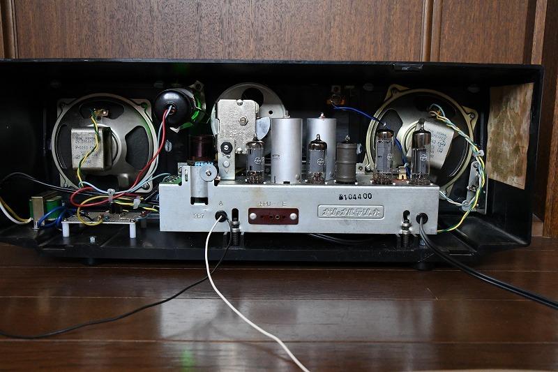 ナショナル トランスレス方式真空管ラジオ AM390 LED同調指示器つけました_画像10
