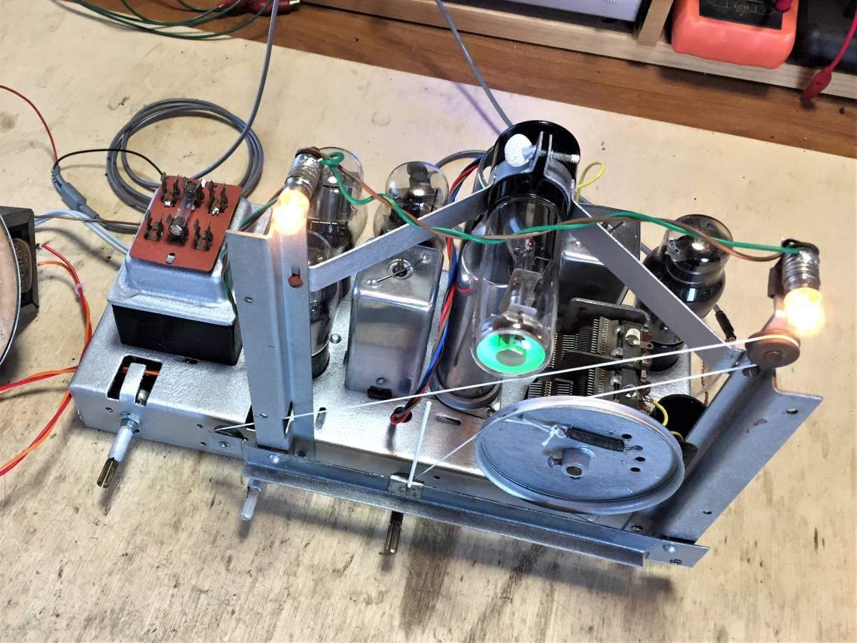 昭和の思い出 ナショナルの真空管ラジオ 5球スーパー HS-800(?)整備品_画像8