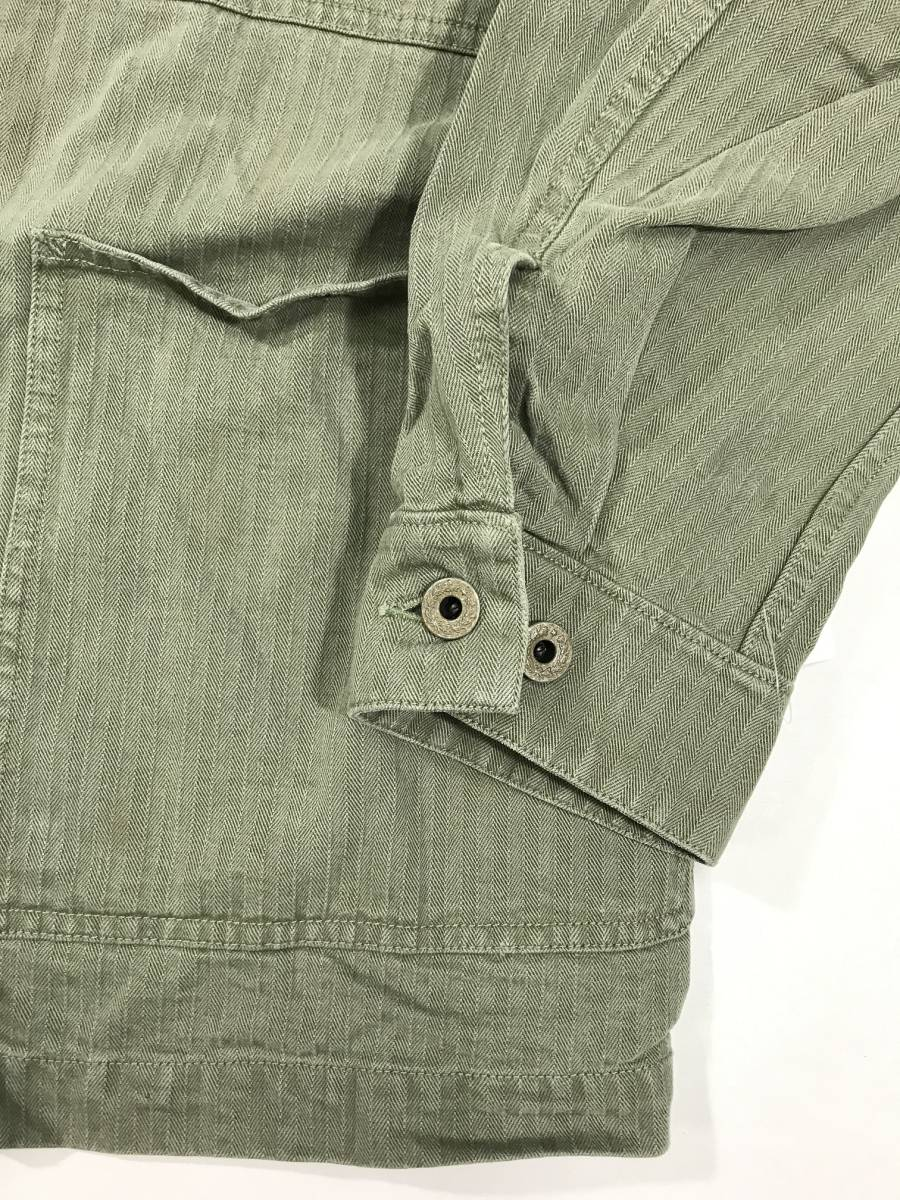 新品 14543 RRL Lサイズ アーミー ジャケット シャツ ヘリンボーン月桂樹ボタン ビンテージ polo ralph lauren ポロ ラルフ ローレン _画像5
