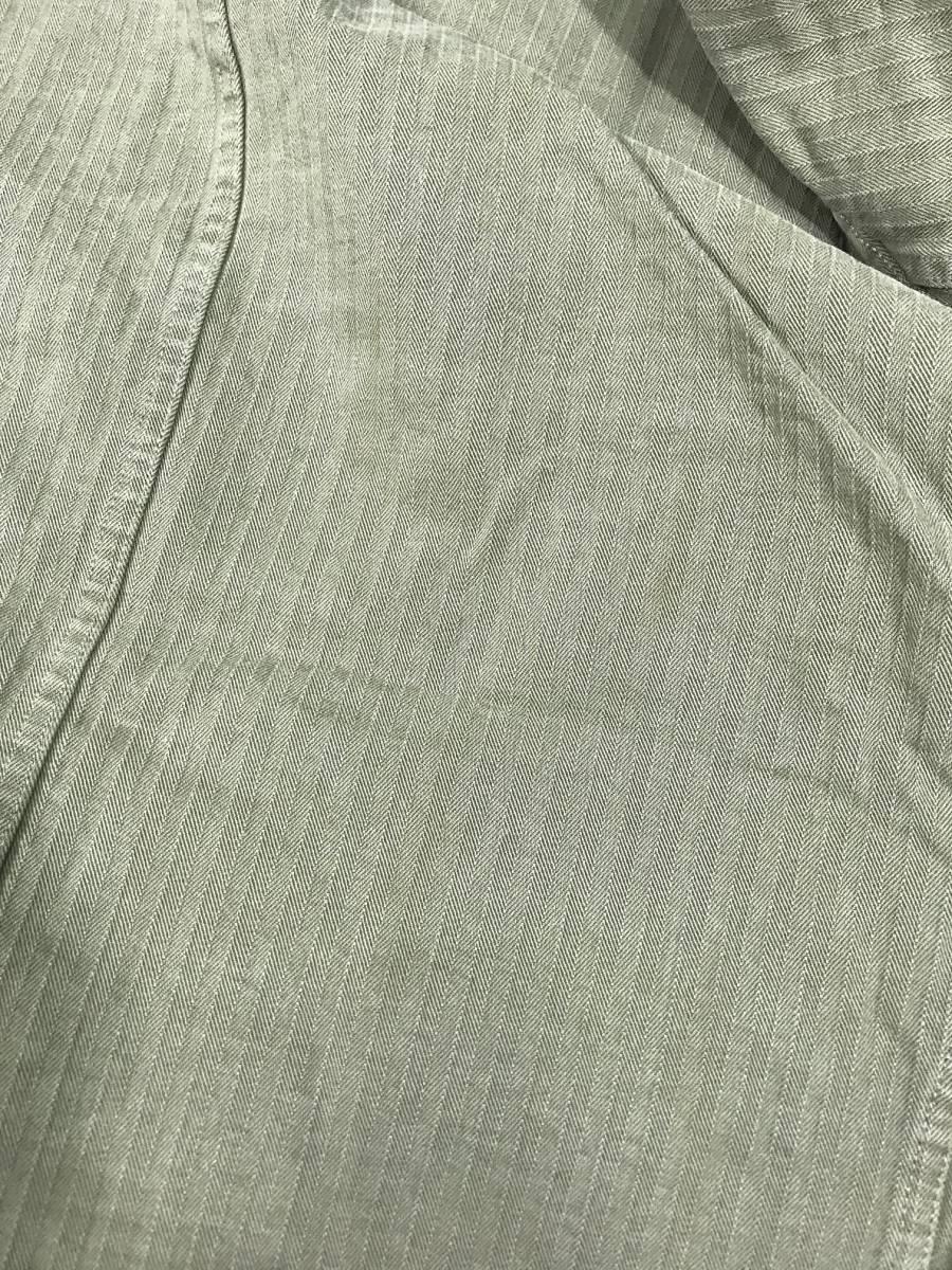 新品 14543 RRL Lサイズ アーミー ジャケット シャツ ヘリンボーン月桂樹ボタン ビンテージ polo ralph lauren ポロ ラルフ ローレン _画像9