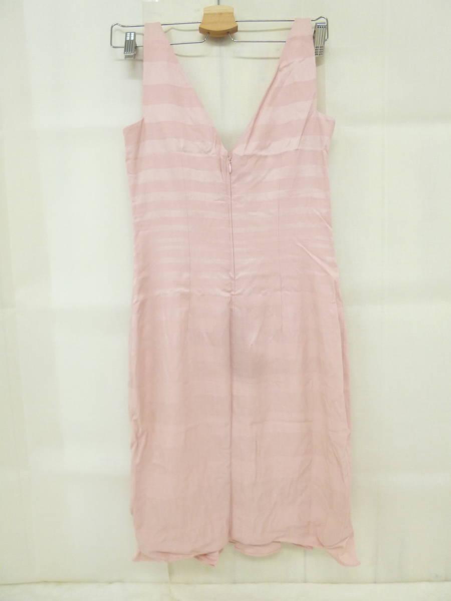 4f04ccce5318e 2975mi LPP 60 Christian Dior クリスチャンディオールワンピースドレスフリルボーダーピンク桜色キレイ系かわいい系38 6  サイズ