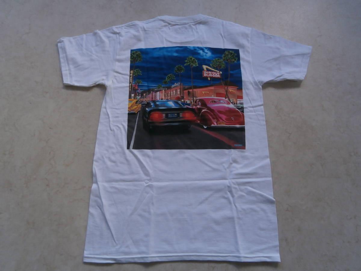 In-N-Out Burger インアンドアウトバーガー クラシックカー ビンテージ アメ車 ムーンアイズ 世田谷ベース Tシャツ アメリカ限定_画像1