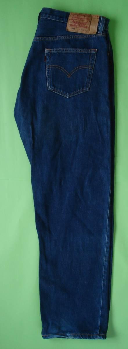 501 LEVI'S リーバイス(R)501 W36 L32 レーザーアート ジーンズ 裾チェーンステッチ 紙パッチ 501-01 WA Levis 501_画像3