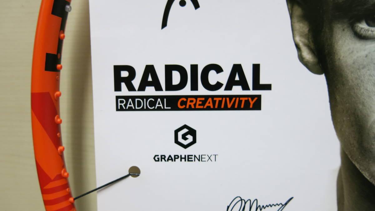 新品 HEAD ヘッド ラケット Graphene XT Radical MPA 230226 -UJ3 -11CN size4 3/8 - 3 ガット無し_画像5