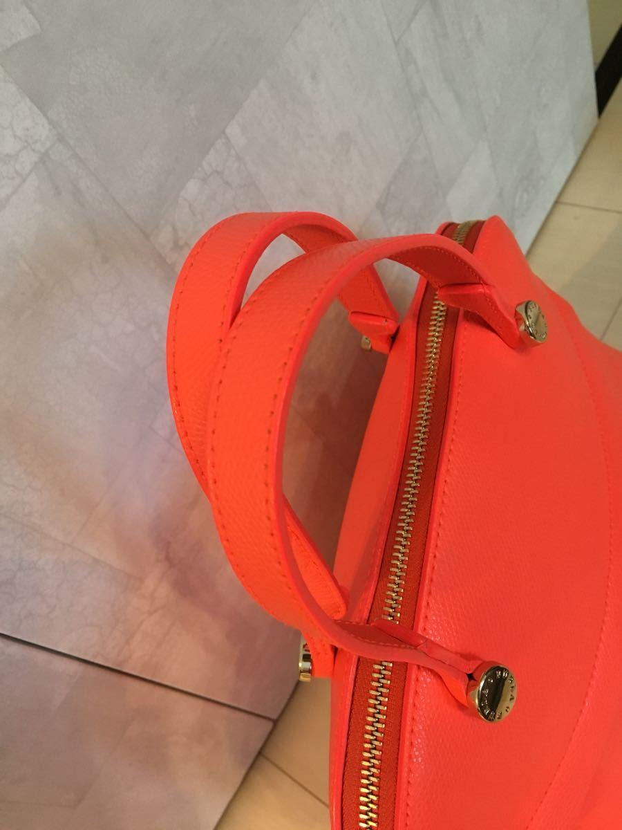 fd6a0283c9f9 フルラ FURLA パイパー レディース 2WAY ハンドバッグ サーモンピンク オレンジ_画像6