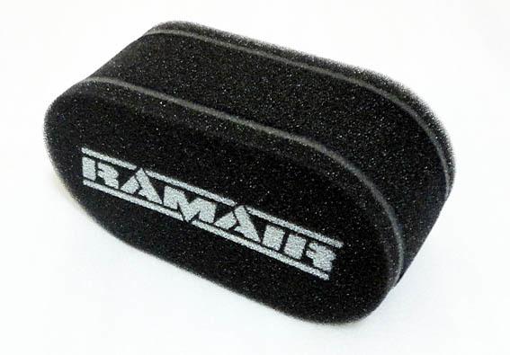 RAMAIR 汎用エアフィルター!旧ミニシングルウェーバー,N360やスバル360SSのソレックスなど、旧車のツインチョークキャブに!クリーナー_画像1