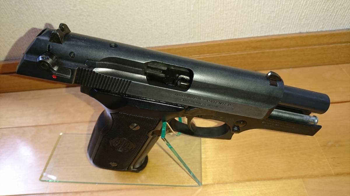 WA Beretta M8045F クーガー カーボンブラック ガスブローバックガン_画像3