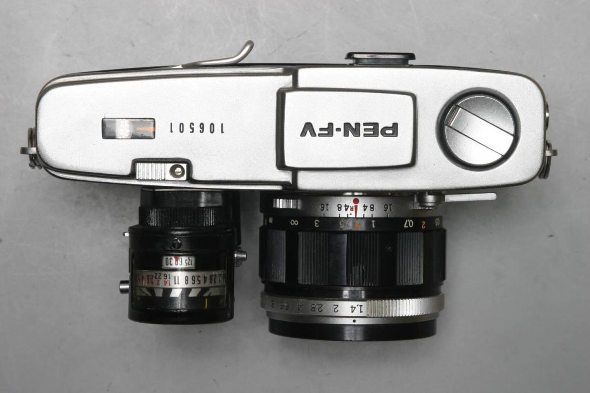 美品 OLYMPUS PEN FV 専用 露出計・レンズ5本付 完全整備済 1年間の無償修理付_画像3