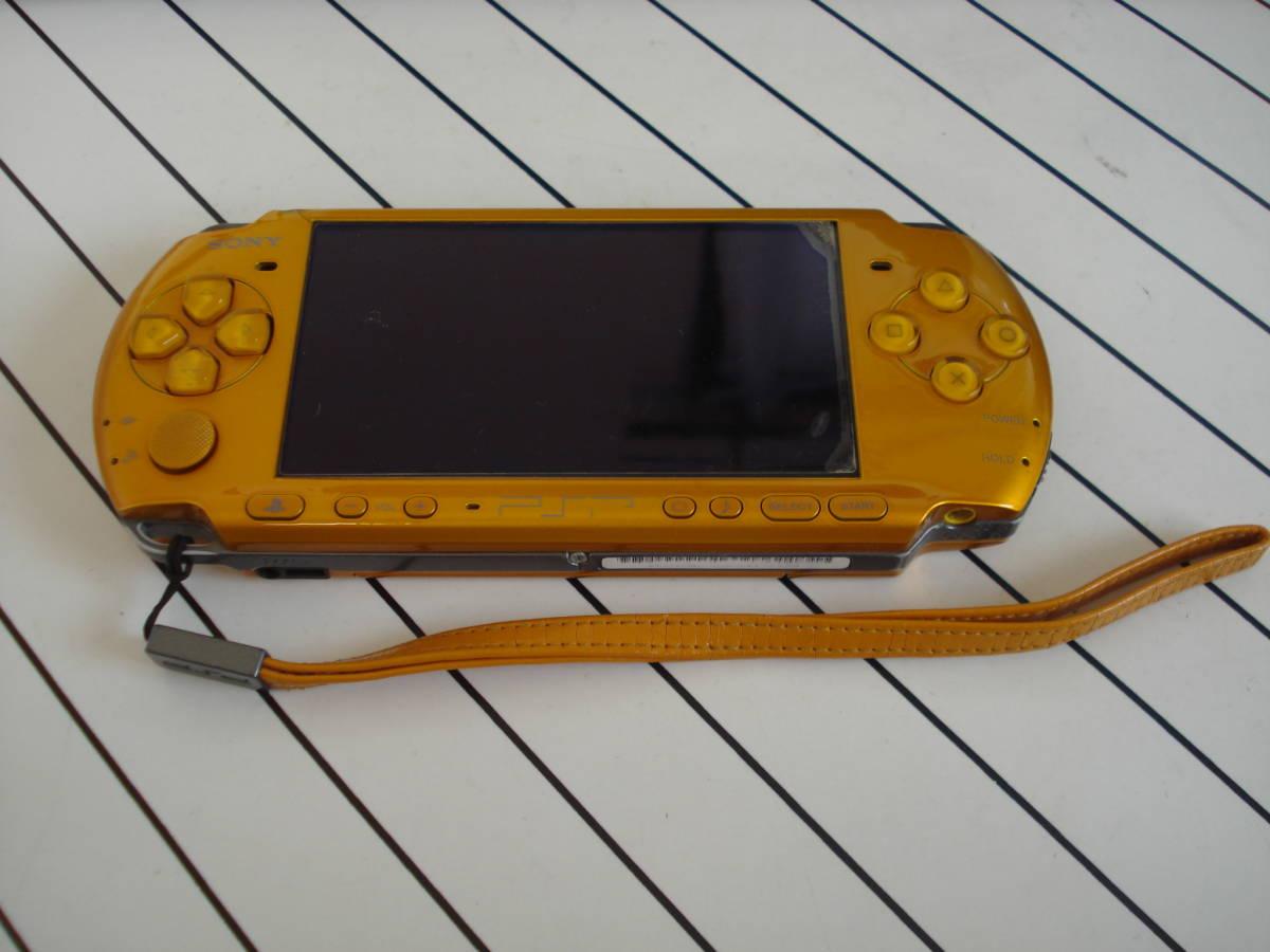 美品!★SONY PSP-3000 本体 ブライト・イエロー 完動良品 ★送料215円