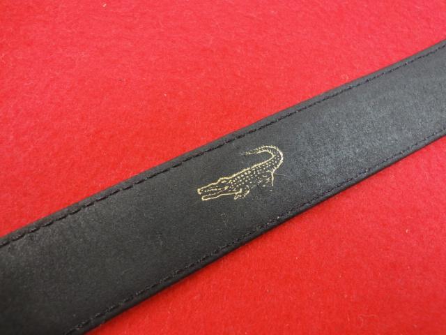【カルティエ】本物 Cartier ベルト トーチュバックル クロコダイル 全長100cm 幅3cm 黒色 ワニ革 男性用 メンズ サイズ調整可能 送料510円_画像4
