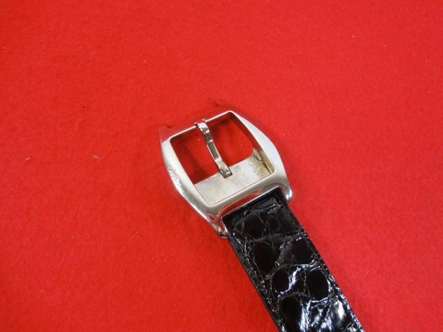 【カルティエ】本物 Cartier ベルト トーチュバックル クロコダイル 全長100cm 幅3cm 黒色 ワニ革 男性用 メンズ サイズ調整可能 送料510円_画像2