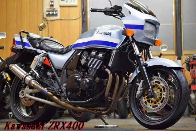 Kawasaki ZRX400 ZR400E 車検31年12月 BEET製マフラー 川口タックロールシート DAYTONAバー 整備済 WAKO,Sオイル レスポンス抜群 E/G絶好調