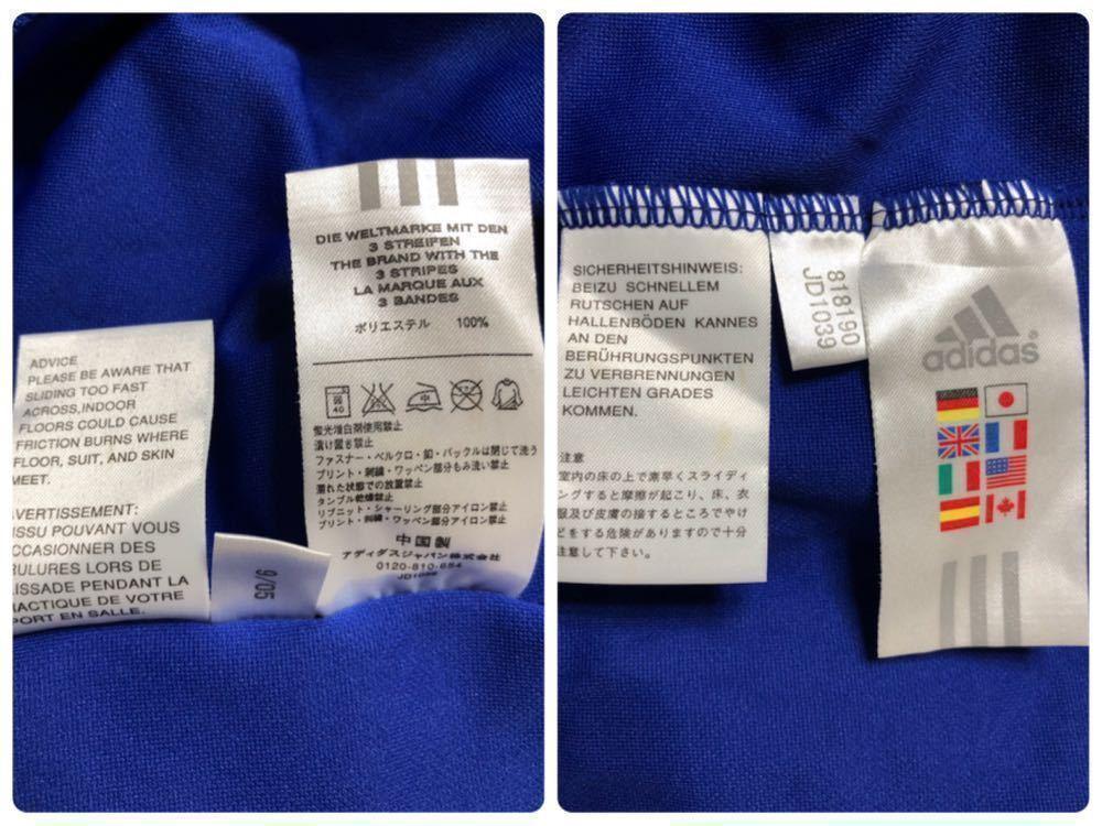【良品】 adidas JAPAN アディダス サッカー 日本代表 ユニフォーム 2006 ホーム サイズS 長袖 侍ブルー 背番号5 宮本恒靖 81819_画像10