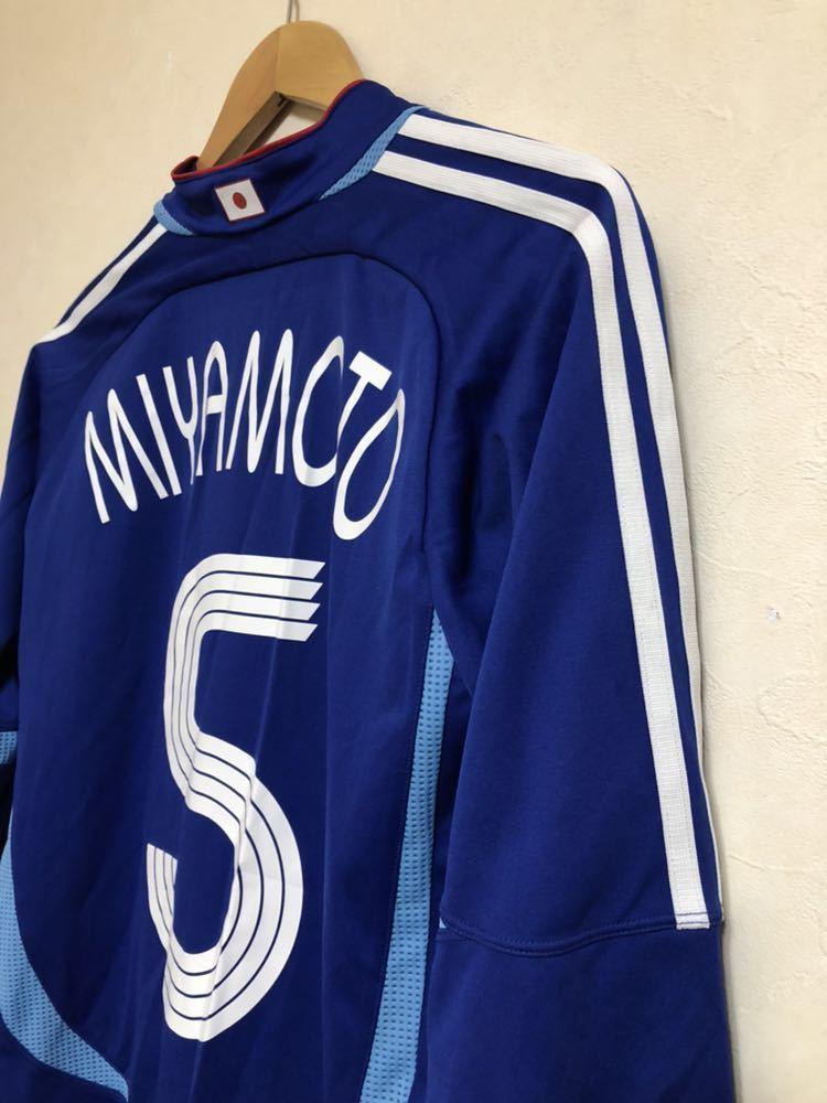 【良品】 adidas JAPAN アディダス サッカー 日本代表 ユニフォーム 2006 ホーム サイズS 長袖 侍ブルー 背番号5 宮本恒靖 81819_画像7