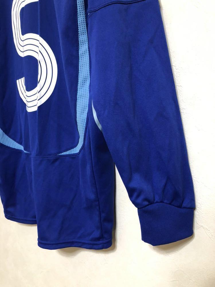 【良品】 adidas JAPAN アディダス サッカー 日本代表 ユニフォーム 2006 ホーム サイズS 長袖 侍ブルー 背番号5 宮本恒靖 81819_画像9