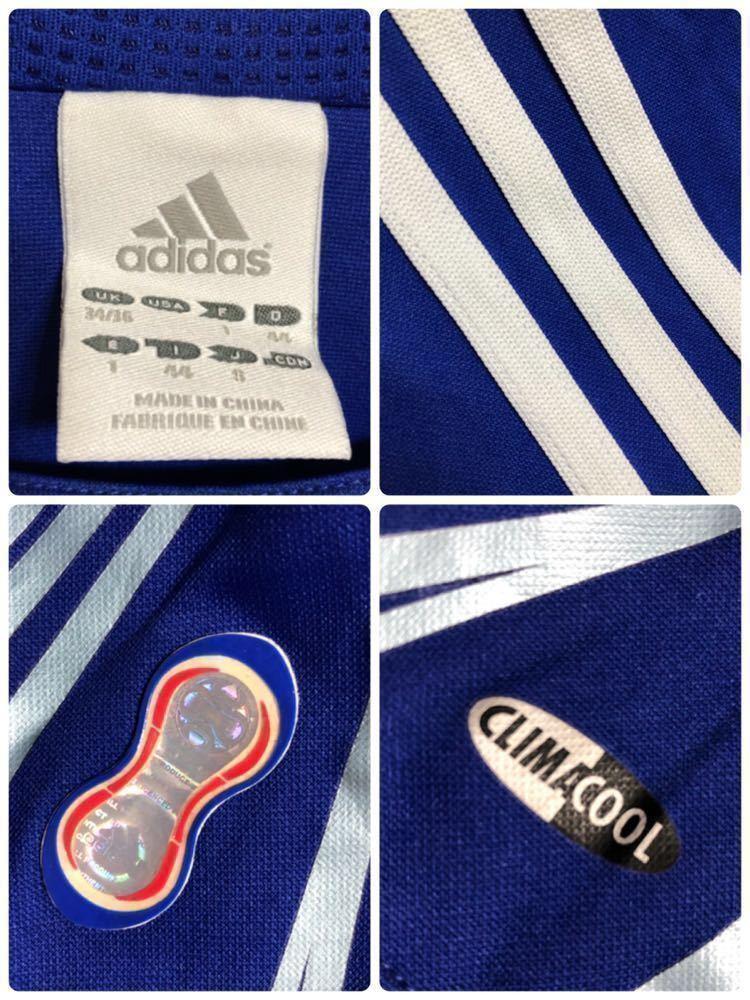 【良品】 adidas JAPAN アディダス サッカー 日本代表 ユニフォーム 2006 ホーム サイズS 長袖 侍ブルー 背番号5 宮本恒靖 81819_画像5