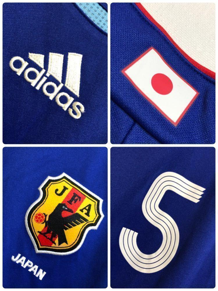 【良品】 adidas JAPAN アディダス サッカー 日本代表 ユニフォーム 2006 ホーム サイズS 長袖 侍ブルー 背番号5 宮本恒靖 81819_画像4