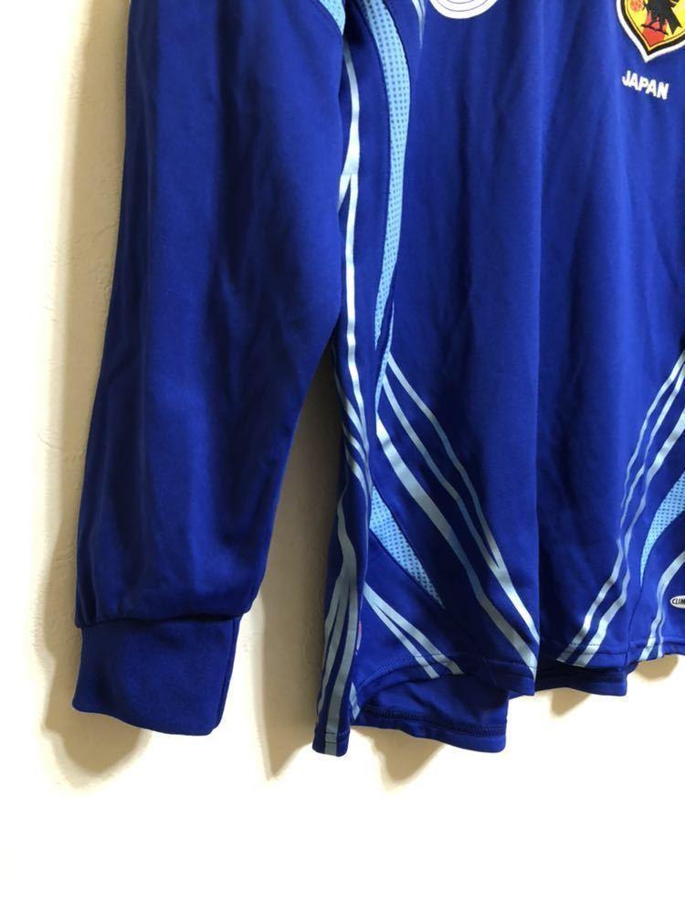 【良品】 adidas JAPAN アディダス サッカー 日本代表 ユニフォーム 2006 ホーム サイズS 長袖 侍ブルー 背番号5 宮本恒靖 81819_画像8