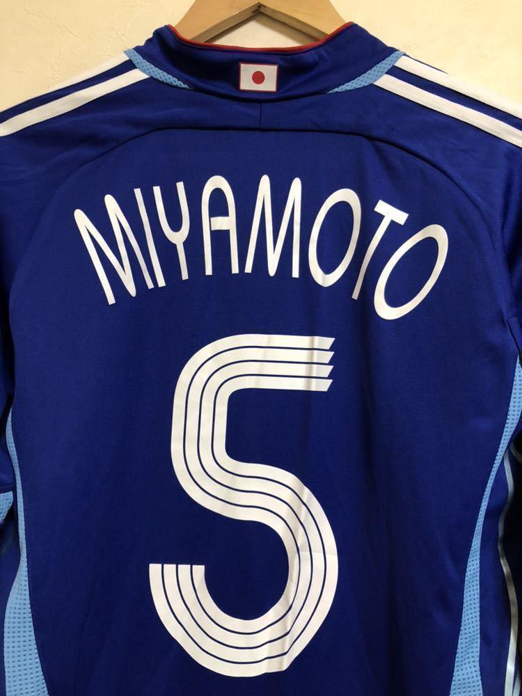 【良品】 adidas JAPAN アディダス サッカー 日本代表 ユニフォーム 2006 ホーム サイズS 長袖 侍ブルー 背番号5 宮本恒靖 81819_画像3