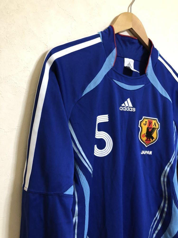 【良品】 adidas JAPAN アディダス サッカー 日本代表 ユニフォーム 2006 ホーム サイズS 長袖 侍ブルー 背番号5 宮本恒靖 81819_画像6