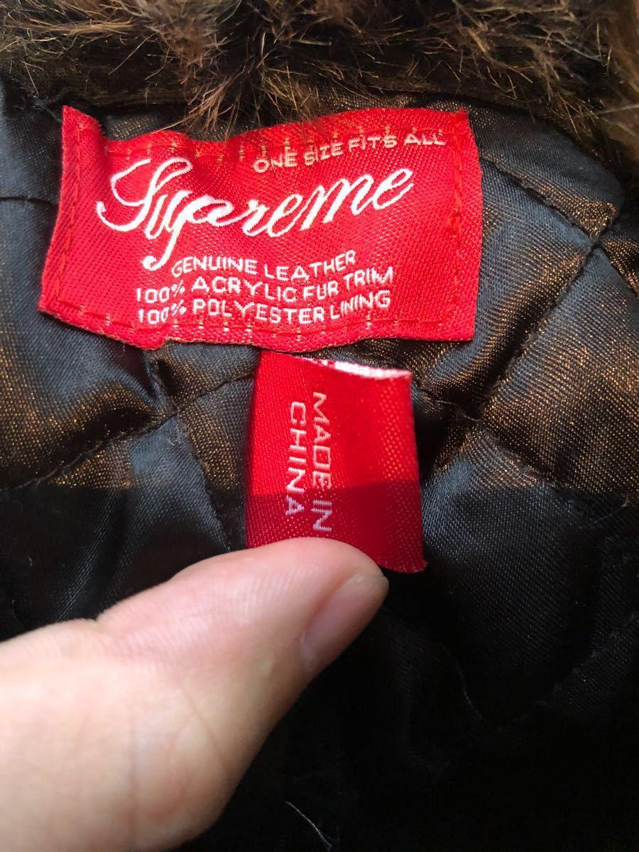ef26c237958   rare  Supreme TROOPER HAT CAP GENUINE LEATHER original leather Supreme tu  LOOPER hat tea