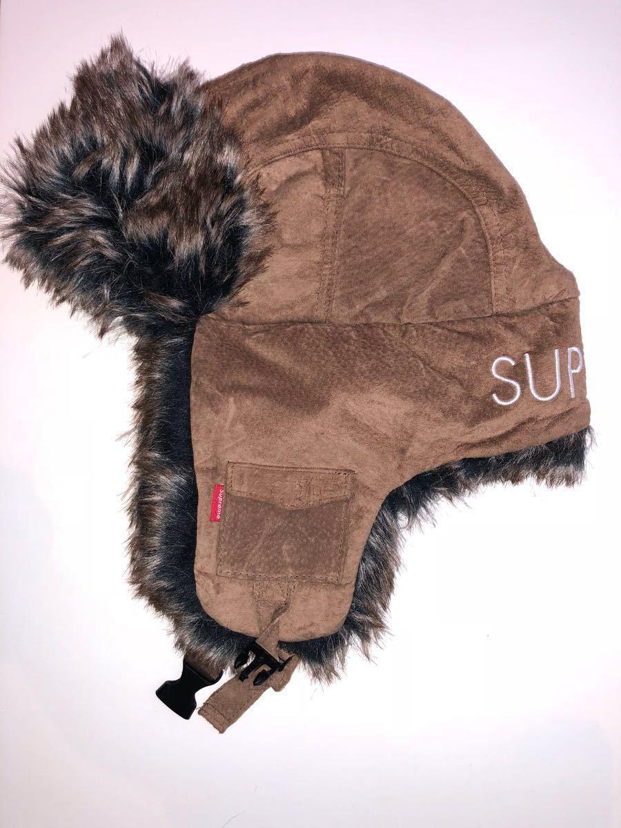 b43ea198801   rare  Supreme TROOPER HAT CAP GENUINE LEATHER original leather Supreme tu  LOOPER hat tea color