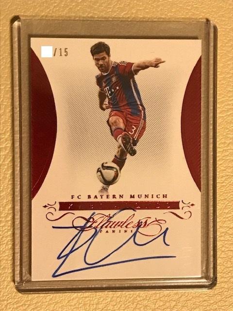 2018 Panini Flawless/National Treasures Soccer Xabi Alonso Auto /15 直書き 直筆サイン