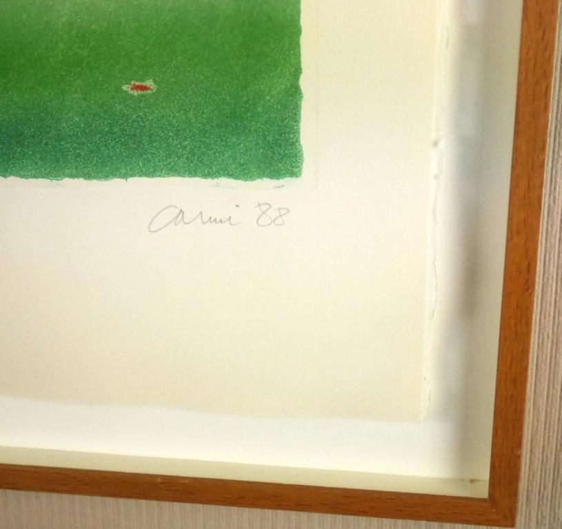 イウジェニオ・カルミ『抽象』◆銅版画◆直筆サイン有◆限定200版!イタリア人気作家!独自の世界観!額装_画像3