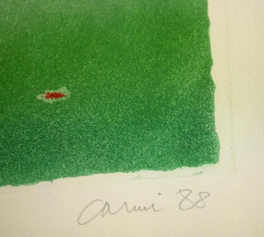 イウジェニオ・カルミ『抽象』◆銅版画◆直筆サイン有◆限定200版!イタリア人気作家!独自の世界観!額装_画像9