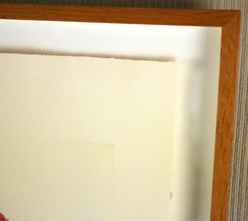 イウジェニオ・カルミ『抽象』◆銅版画◆直筆サイン有◆限定200版!イタリア人気作家!独自の世界観!額装_画像6