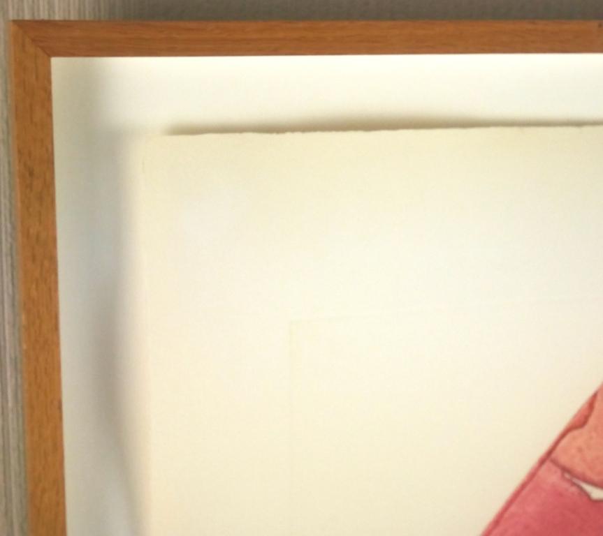 イウジェニオ・カルミ『抽象』◆銅版画◆直筆サイン有◆限定200版!イタリア人気作家!独自の世界観!額装_画像5