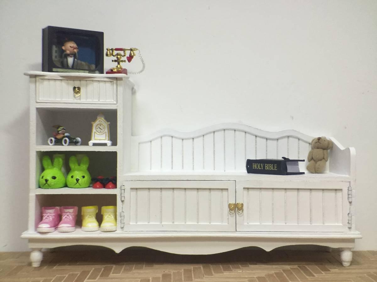 新品 BJD用撮影家具 靴棚 YSDサイズ用 ホワイト ドール用 1/6 doll 球体関節人形用 ドールハウス用 MRR-003_画像1