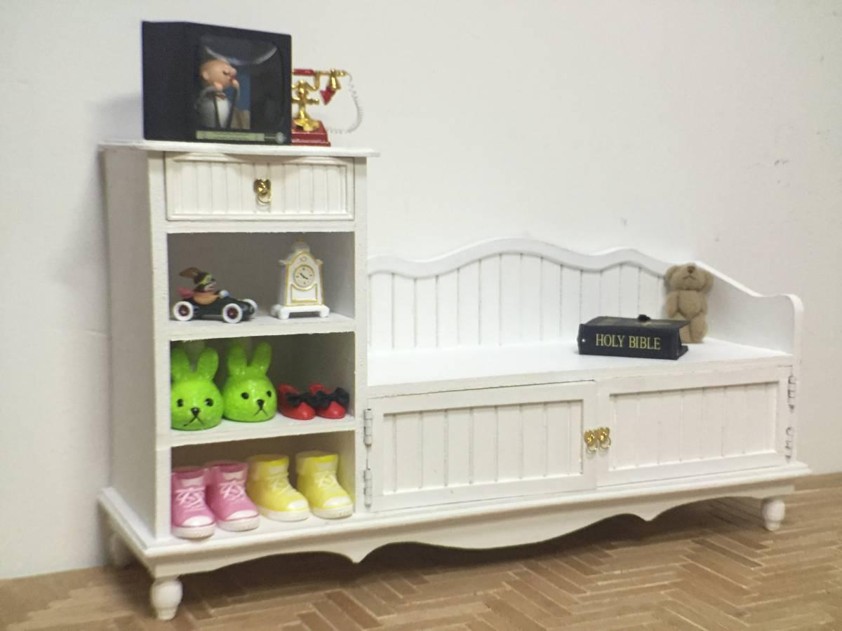 新品 BJD用撮影家具 靴棚 YSDサイズ用 ホワイト ドール用 1/6 doll 球体関節人形用 ドールハウス用 MRR-003_画像6