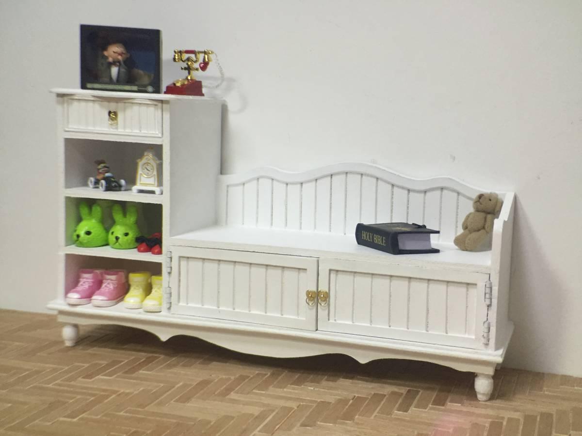 新品 BJD用撮影家具 靴棚 YSDサイズ用 ホワイト ドール用 1/6 doll 球体関節人形用 ドールハウス用 MRR-003_画像7