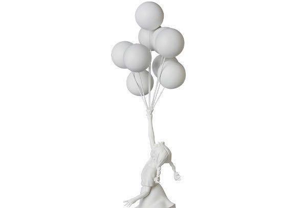 緊急出品 限定未開封 Flying Balloons Girl (White) MEDICOM TOY メディコムトイ プラス Banksy バンクシー 白 supreme kaws ベアブリック _画像2